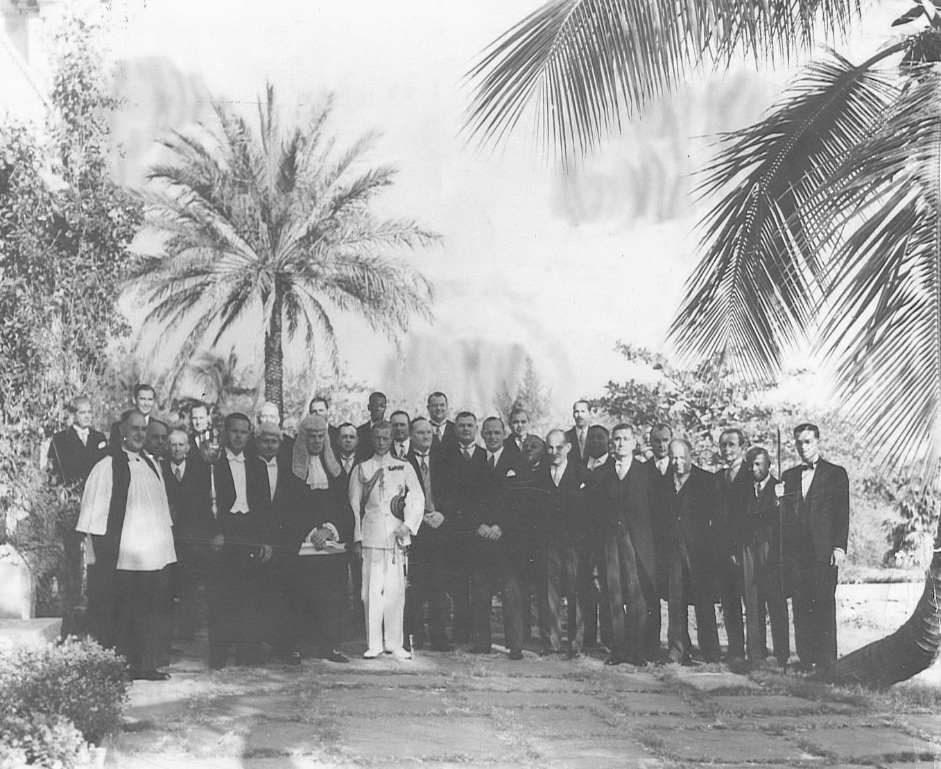 The Duke of Windsor with members of the Bahamas House of Assembly